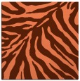 rug #433265 | square red-orange animal rug