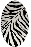rug #433421 | oval white stripes rug