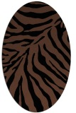 rug #433433 | oval brown stripes rug