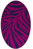 rug #433445 | oval blue animal rug