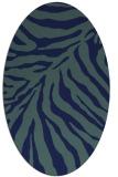 rug #433449 | oval blue rug
