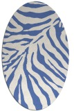 rug #433457 | oval blue animal rug