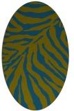 rug #433477 | oval green animal rug