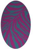 rug #433481   oval pink animal rug