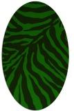 rug #433485 | oval green rug