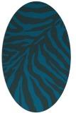 rug #433497 | oval blue animal rug