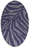 rug #433505   oval blue-violet animal rug