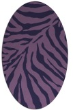 rug #433513 | oval purple animal rug