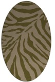 rug #433537 | oval brown stripes rug