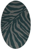 rug #433545 | oval green animal rug