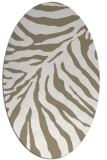 rug #433557 | oval white stripes rug