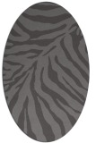 rug #433565 | oval brown stripes rug