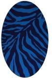 rug #433585 | oval blue animal rug