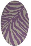 rug #433597   oval purple rug