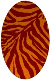 rug #433605 | oval stripes rug