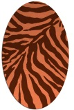 rug #433617 | oval red-orange animal rug