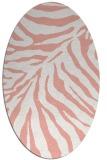 rug #433637 | oval white animal rug