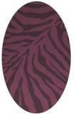 rug #433641 | oval purple animal rug