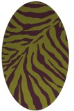 rug #433645   oval green animal rug