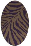 rug #433649   oval mid-brown rug