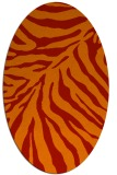 rug #433661 | oval red animal rug