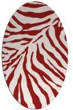 rug #433665 | oval red rug