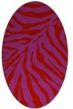 rug #433669 | oval red rug