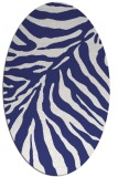 rug #433697 | oval blue animal rug