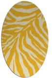 rug #433705 | oval yellow animal rug