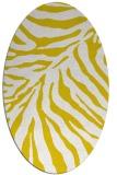 rug #433717 | oval yellow stripes rug