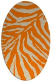 rug #433733 | oval beige animal rug