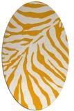 rug #433753 | oval light-orange animal rug