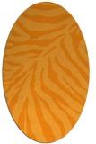 rug #433761 | oval light-orange animal rug