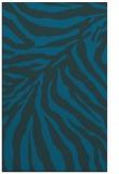 rug #433849 |  blue stripes rug