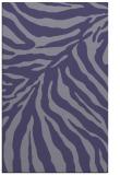 rug #433857    blue-violet animal rug