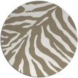 rug #434121 | round white stripes rug