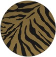 rug #434141 | round mid-brown stripes rug