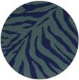 rug #434153 | round blue animal rug