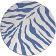 rug #434161 | round blue animal rug