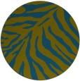 rug #434181 | round blue-green animal rug