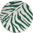 rug #434253   round blue-green animal rug
