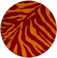 rug #434309 | round orange animal rug