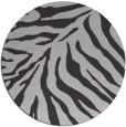 rug #434321 | round red-orange stripes rug