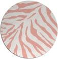 rug #434341 | round pink stripes rug