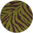 rug #434349 | round purple stripes rug