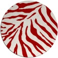 rug #434361 | round red animal rug