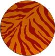 rug #434365 | round orange animal rug