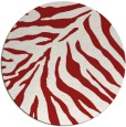 rug #434369 | round red animal rug