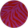 rug #434373 | round red animal rug