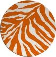 rug #434389 | round red-orange stripes rug